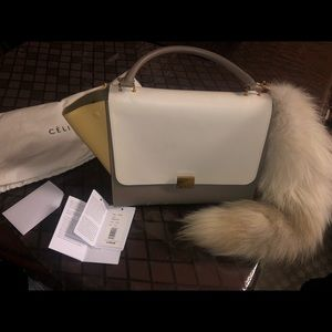 Celine Purse with Fur Tail accessory